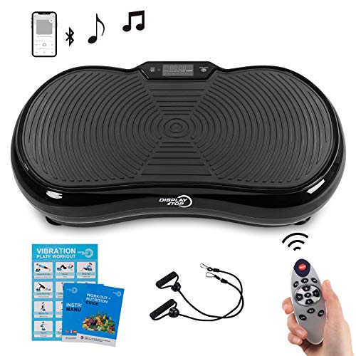 Display4top Ultra Slim Vibration Plate Exercise Machine,5 Programs + 180 Levels,Full Whole...