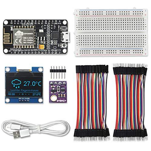 KeeYees WiFi Wetterstation Kit für IoT mit Tutorial, GY-BME280 Barometrischer Sensor für Temperatur/Luftfeuchtigkeit/Luftdruck + 1,3