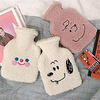 1Pc Cute Stress Pain Relief Therapy Cloud Hot Water Bottle Bag Lambswool Cozy Cover Winter Warm Heat Reusable Hand War. De...