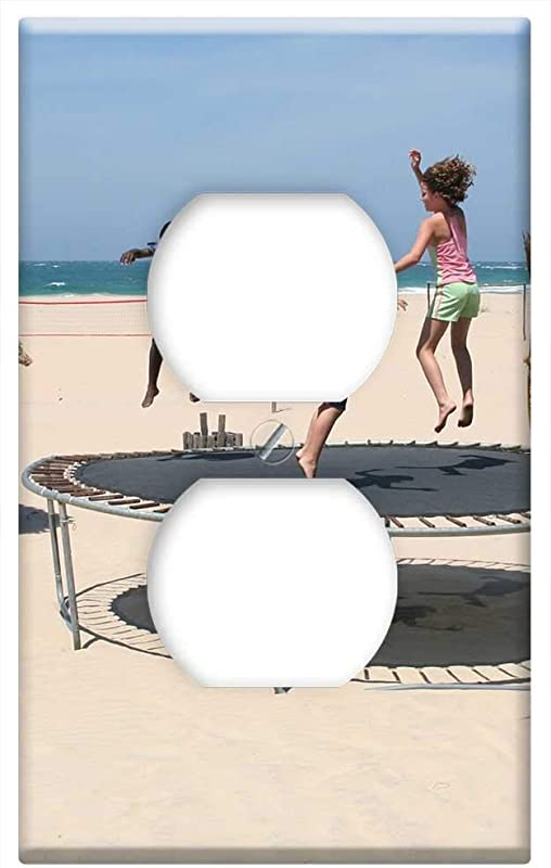 Switch Plate Outlet Cover Trampoline Children Playing Infant Kids Jumping
