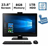 Acer Veriton Z4820G 23.8 inch Full HD Touchscreen All-in-One Professional/Business Desktop, Intel Quad Core i7 Processor up to 4 GHz, 8GB Memory, 1TB Hard Drive, DVD-RW, Windows 7/10 Professional