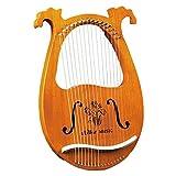WDFDZSW Arpa, violín Griego, Arpa de 16 Cuerdas, Caoba sólida, Arpa con Tablero de Tuning, Adecuado for Principiantes for los Amantes de la música, etc.