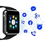 Janker Smart Watch,Bluetooth Smartwatch with SIM Card Slot Camera Music Player Phone Watch Compatible Android Phones Wrist Watch for Men Women
