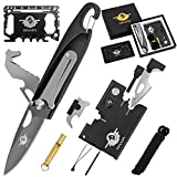 Multitool Knife Pocket Tool Gift for Men with 7 in 1 Folding Keychain Knife,18 in 1 Pocket Knife,46 in 1 Credit Card Tool Wallet Tool,--Gift Boxed Stocking Stuffers for Men, Husband, Father's Day Gift