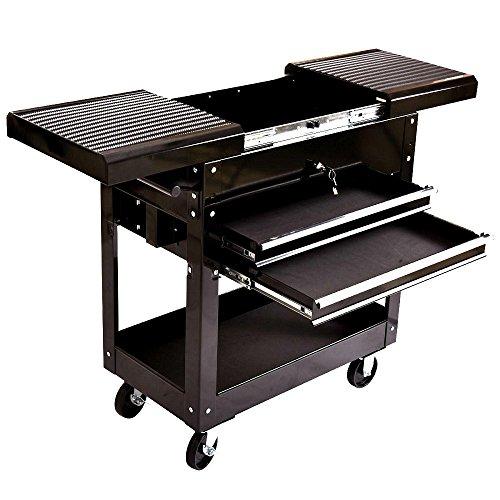 2 Drawer Rolling Storage Cart Toolbox Tools Mechanics Tool Cart Craftsman Rolling - House Deals