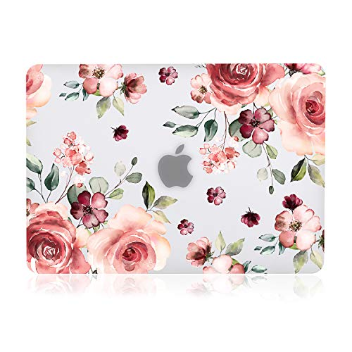 iDonzon Case for MacBook Air 13 inch M1 A2337 A2179 A1932 2020 2019 2018 Release 3D Effect Matte Clear See Through Hard Cover Compatible Mac Air 133 inch with Retina Display Touch ID Peach Flowers