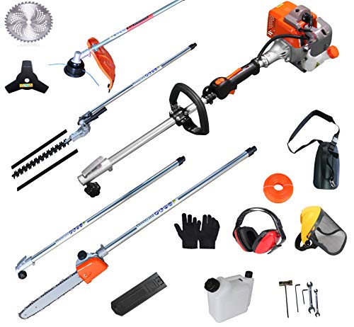 PROYAMA 26cc 5 in 1 Trimming Tools, Multi Functional Sets Gas Hedge Trimmer, String Trimmer, Brush Cutter, Pole Chainsaw...