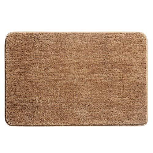 Badmat van zachte microvezel, sneldrogend, absorberend van antibacteriële microvezel, antislip, wasbaar, badkamer, ingang, champagne