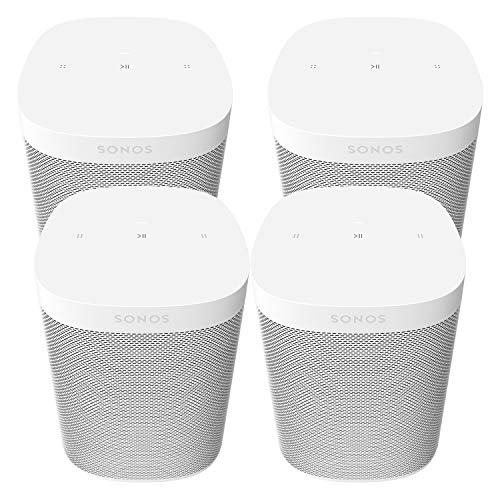 Four Room Set Sonos One SL - The powerful microphone-free speaker for music and more - White