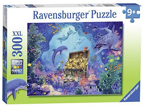 Ravensburger 13255 Deep Sea Treasure 300-teiliges Puzzle mit extra großen Teilen für Kinder ab 9 Jahren, Mehrfarbig