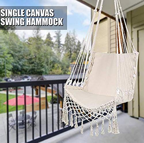 Hammock Safety Hanging Hammock Chair,Swing Rope Outdoor Indoor Hanging Chair Garden Seat for Child Adult