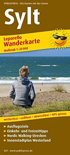 Sylt: Leporello Wanderkarte mit Ausflugszielen, Einkehr- & Freizeittipps und Nordic-Walking-Strecken, wetterfest, reissfest, abwischbar, GPS-genau. 1:25000 (Leporello Wanderkarte / LEP-WK)