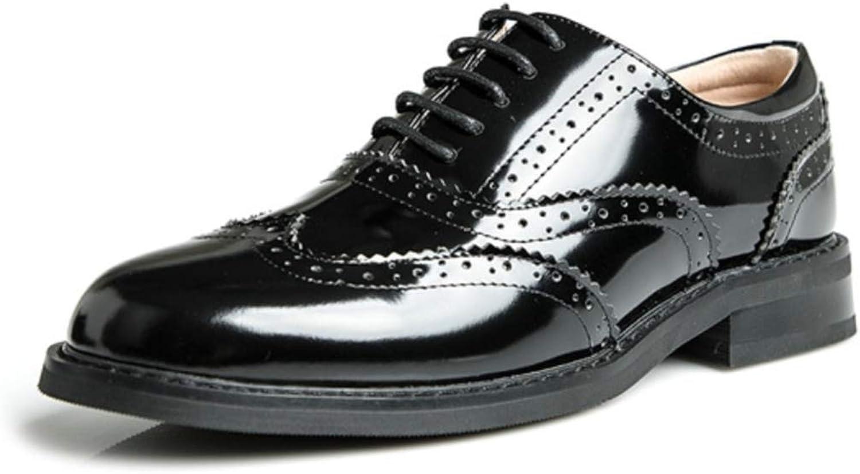 Shiney damen 2018 College Britischen Stil Stil Lackleder Schuhe Flachboden Geschnitzte Runde Kopf Student Schuhe  Großhandelspreis