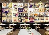 Mural Fotográfico 4D Personalizado - Papel Pintado Creativo De Cafetería - Póster Moderno con Pintura De Pared Grande para Sala De Estar, Dormitorio, Fondo, Decoración del Hogar, 24 Pulg