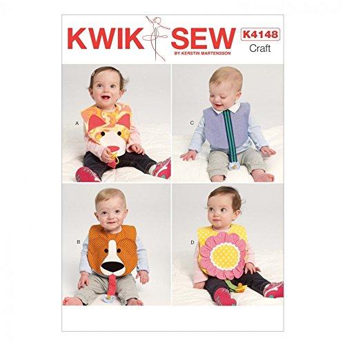 Kwik Sew Baby einfach Schnittmuster 4148Lustige Lätzchen + Gratis Minerva Crafts Craft Guide