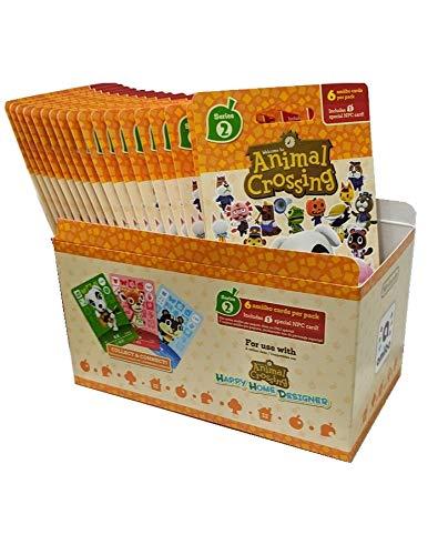 Animal Crossing Amiibo Cards Series 2 – Full box (18 Packs) (6 Cards Per Pack/108 Cards)