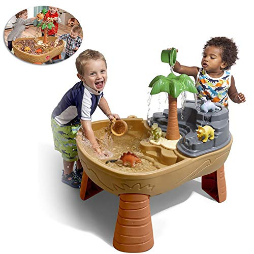 Children's Zomer Indoor Wassen Zand Tafels, Kinderbad Dinosaurus Glijbaan Tabel 2 in 1 Waterval Strand Speelgoed Voor Zand Tafel Tafel,A