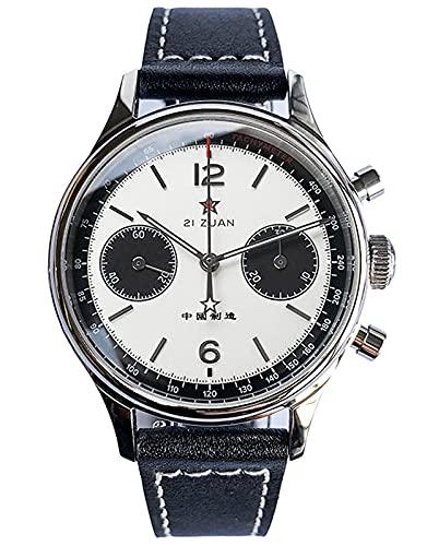 38MM Five Star White Panda Chrono Gaviota ST1901 Movimiento Zafiro Cristal Reloj Cronógrafo 1963 SUPAN006GN