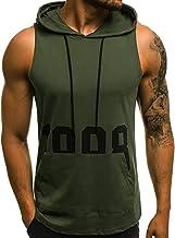 Camisetas Sin Manga Tirantes con Capucha sin Mangas Camiseta Deportiva Top Chaleco Blusa de Deportes para Hombre Entrenamiento Fitness Moda Impresos MMUJERY