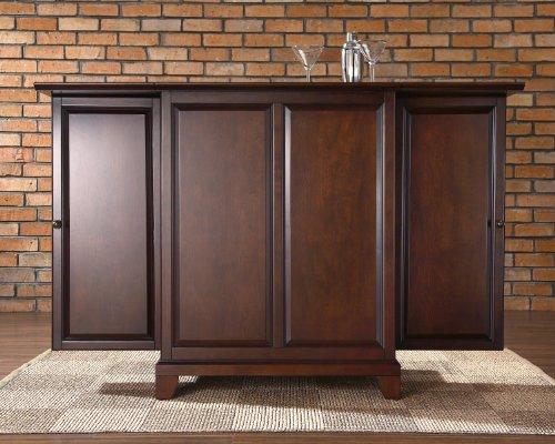 Hot Sale Crosley Furniture Newport Expandable Bar Cabinet in Vintage Mahogany Finish