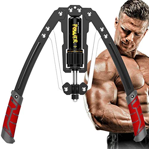 OBALY Twister Arm Exerciser - Adjustable 22-440lbs Hydraulic Power/Home Chest Expander/Shoulder Muscle Training Fitness Equipment/Arm Enhanced Exercise Strengthener (Red Black)