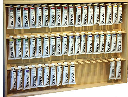 Golden Artists Acrylic Paint Storage Rack, Holds Up to 108 Tubes of Golden 2 Ounce Artist Acrylic