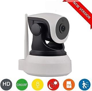 Cámara IP WiFi HD para la vigilancia de interiores con sensor de movimiento y visión nocturna compatible con iOS y Android. DIYtech (P2P Pan/Tilt ONVIF slot micro SD) Nueva versión