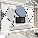 3d nórdico geométrico línea mural imitación porcelana TV fondo papel de pared simple moderno salón dormitorio papel tapiz personalizado-355X225CM