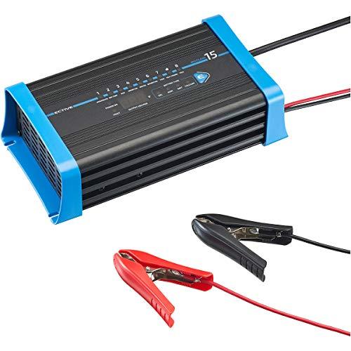 ECTIVE 15A 12V Batterie-Ladegerät für Blei-Batterien Vollautomatisch 8-Stufen Multiload 15 Ladegerät für Auto und Motorrad Batterie