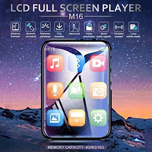 Yiwa MP3-speler, MP4-speler, M16, draagbaar, zonder verlies, With Bluetooth, 8 GB