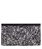 New Women's Patricia Nash Chantilly Lace White Black Leather Cauchy Wallet