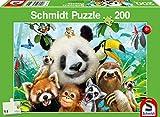 Schmidt Spiele- Simplemente, Animal, Puzzle Infantil, 200 Piezas, Color carbón (56359)
