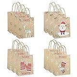 CMOM Weihnachten Kinder, Bag Paper Bag Packaging Kraft Paper Bottom Tote Bag 12pcs Weihnachtsbaum Tischdekoration Fensterbilder Basteln Weihnachten Basteln Kinder
