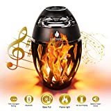 ANERIMST Led Bluetooth Speaker, Flame Ambience Lantern Outdoor Speakers with Stereo Sound,...