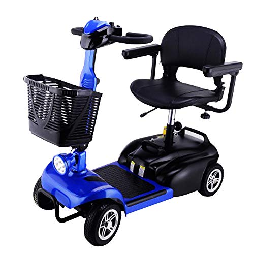 KMCQA Elektromobil Angetriebene Mobility Scooter Foldable Senior Intelligent Electric Mobile Chair Lithium Battery Vierrädrift Long Range Travel Scooter Comfort Seat