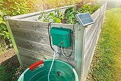 Durch den Betrieb mit dem Solarmodul wird keine Stromzuleitung benötigt Die mitgelieferten 15 Wassertropfer Bewässern automatisch 2x pro Tag Die Bewässerungszeit ist über den Drehschalter einstellbar Das System saugt das Wasser selbstständig aus eine...