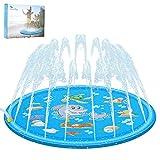 Aitsite Splash Pad 68'' Summer Outdoor Water Play Mat Sprinkler Spray Pad Inflatable
