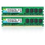 DUOMEIQI Kit de 4GB (2 X 2GB) 2RX8 DDR2 800MHz UDIMM PC2-6300 PC2-6400 PC2-6400U CL6 1.8v...