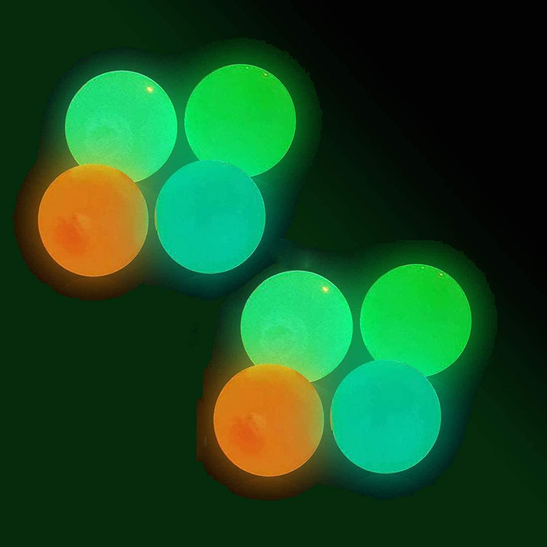 Sticky Wall Balls,Ceiling Balls Sticky Balls for Kids Adult,Stick to The Wall and Slowly Fall Off Luminescent Stress Relief Squishy Sticky Balls for Fun Toy for ADHD,OCD,Anxiety