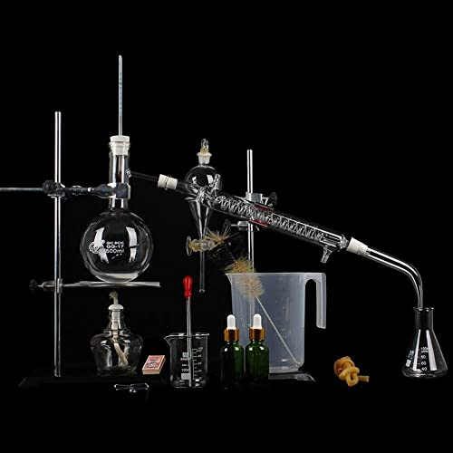 Chemische Laborausrüstung, Destillationsexperiment-Werkzeugsatz Glaswaren- erisches  Reinigung DIY Produktionslaborausrüstung