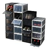 LCLOVER シューズボックス 収納ケース クリア バスケットシューズ スニーカー 収納ボックス 靴収納 コレクション (WHITE中)
