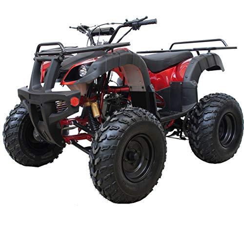 X-PRO ATV Quad 4 Wheelers Utility ATV Full Size ATV Quad Adult ATVs Big Youth ATVs for Sale(Burgundy)