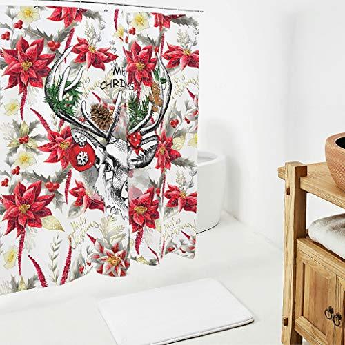 Bobonc Christmas Animal Happy bedrukte douchegordijnen modern topkwaliteit gordijn badkamer gordijn voor badkamer badkuip