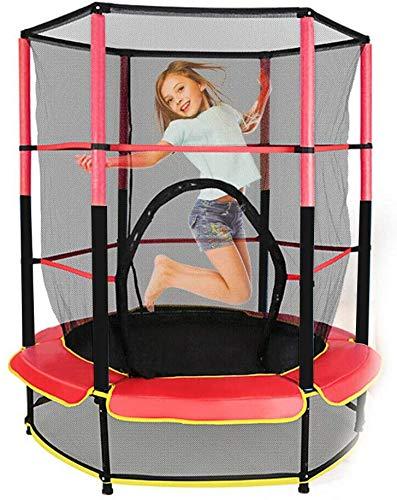 Cama elástica para niños, para exteriores con red de seguridad, cama de saltos, cama elástica plegable, parque móvil para niños, zona de juegos en interiores, silencio, capacidad de carga de 50 kg