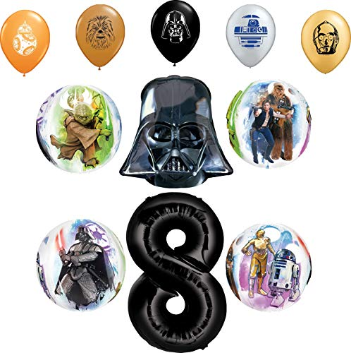 Star Wars Party Supplies 8th Birthday Orbz Balloon Bouquet Decorations and 11