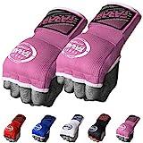 Guantes de entrenamiento Farabi sin dedos para gimnasio, fitness, boxeo, MMA, Muay Thai, con protector en los nudillos, color rosa, tamaño large/extra-large