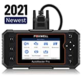 FOXWELL NT614 Elite Diagnostic Tool, Professional Automotive Scanner Transmission Engine ABS Airbag Diagnoses, Code Reader with EPB/Oil Light Reset, Check Engine Car OBD2 Scanner for All OBDII Cars