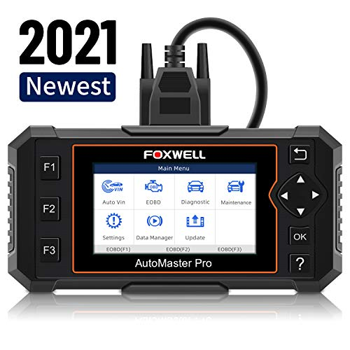 FOXWELL NT614 Elite Car Diagnostic Tool,Transmission Engine ABS Airbag Code Reader, Professional Scan Tool with EPB/Oil Light Reset OBD2 Scanner Free Carrying Case