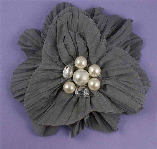 Grande Fleur Gris Pince à cheveux pour spéciales sorties, Pearl et Gem détail Centre