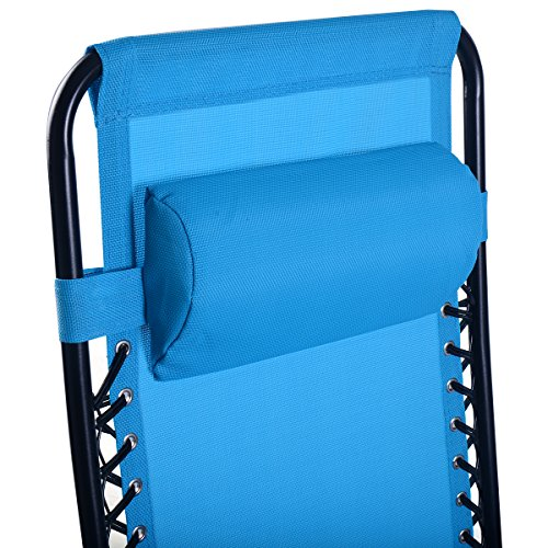 Goplus Folding Zero Gravity Reclining Lounge Chairs Outdoor Beach Patio...